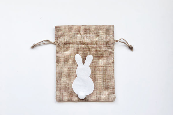 Easter Bunny Drawstring Bags - White | Pop Roc Parties