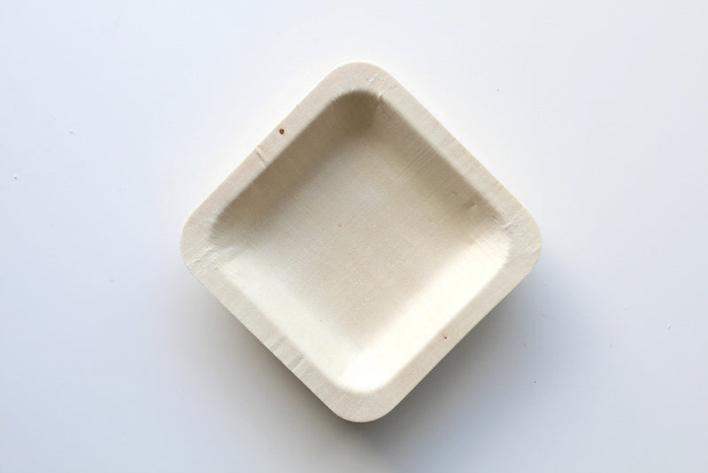 Eco Chic Mini Square Plates | Pop Roc Parties