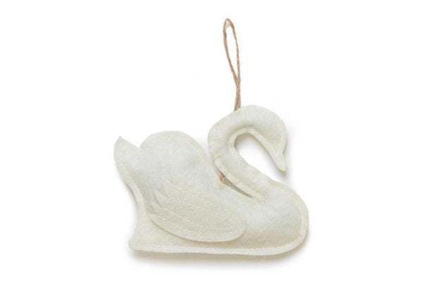 White Felt Swan Decorations - Pop Roc Parties