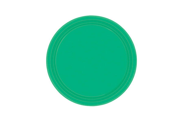 Green Small Paper Plates | Pop Roc Parties