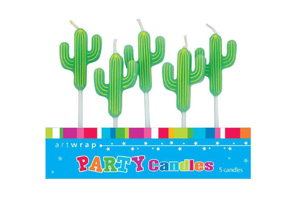 Cactus Birthday Cake Candles - Pop Roc Parties
