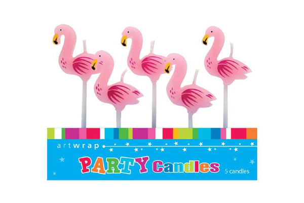 Flamingo Birthday Cake Candles - Pop Roc Parties