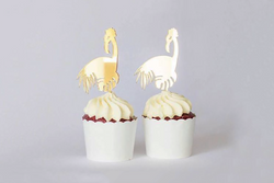 Gold Flamingo Cupcake Toppers - Pop Roc Parties