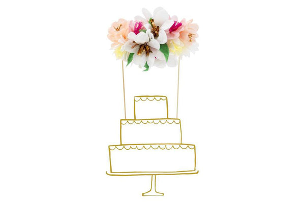 Flower Bouquet Cake Topper | Pop Roc Parties