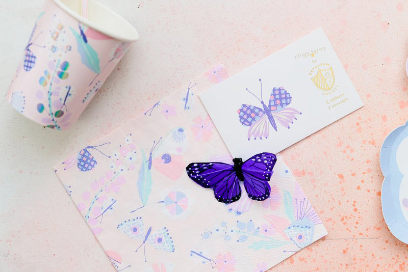 Flutter Butterfly Party Cups | Pop Roc Parties