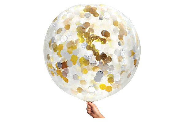 Metallic Confetti Jumbo Balloon - Pop Roc Parties