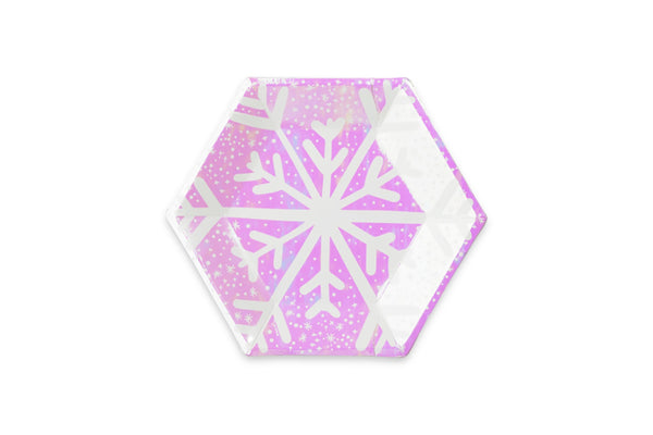 Frosted Snowflake Party Plates | Pop Roc Parties