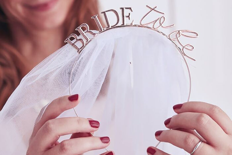 'Bride to Be' Headband with Veil | Pop Roc Parties