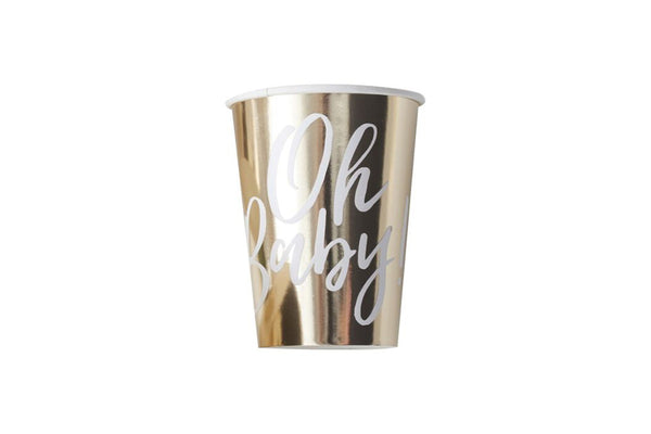 Oh Baby! Gold Party Cups | Pop Roc Parties