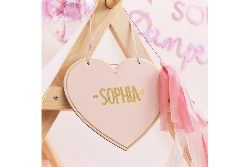 Pamper Party Customisable Heart Sign | Pop Roc Parties