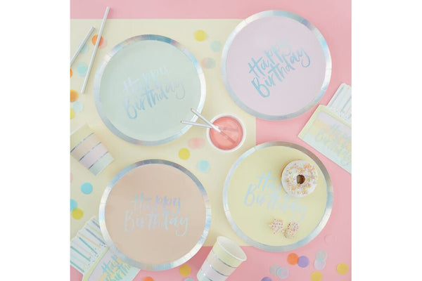 Pastel Party Birthday Plates | Pop Roc Parties