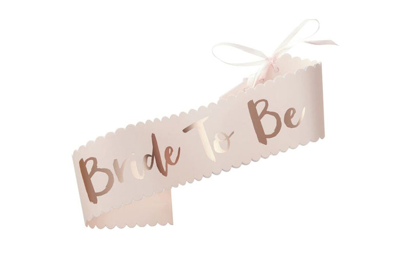 Bride to Be Sash | Pop Roc Parties