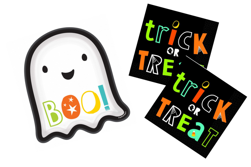 Ghost Shaped Halloween Plates | Pop Roc Parties