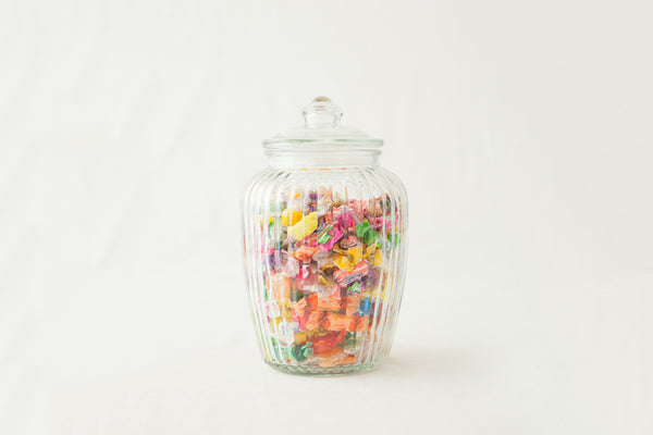 Retro Glass Lolly Jars (Lge) - HIRE-Pop Roc Parties