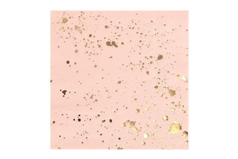 Gold Foil Splash Cocktail Napkins