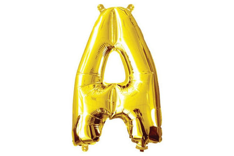 Mini Gold Foil Letter 'A' Balloon