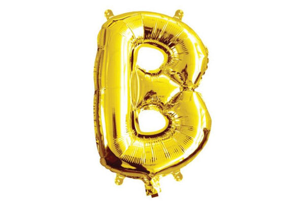 Mini Gold Foil Letter 'B' Balloon - Pop Roc Parties