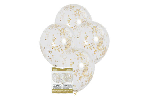 Gold Confetti Balloon Pack