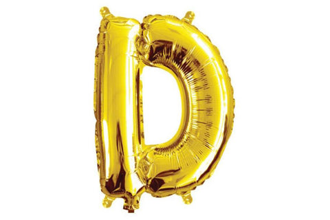 Mini Gold Foil Letter 'D' Balloon