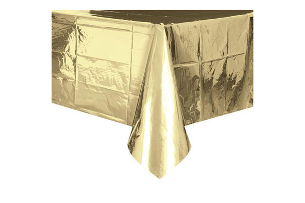 Gold Foil Table Cover - Pop Roc Parties