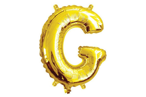 Mini Gold Foil Letter 'G' Balloon