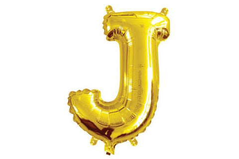 Mini Gold Foil Letter 'J' Balloon