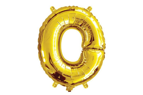 Mini Gold Foil Letter 'O' Balloon - Pop Roc Parties