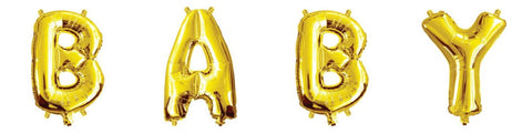 Mini Gold Foil Letter 'B' Balloon