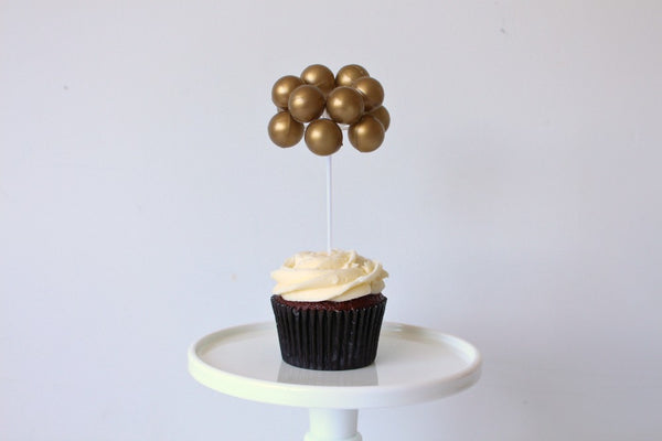 Gold Balloon Cake Topper - Pop Roc Parties