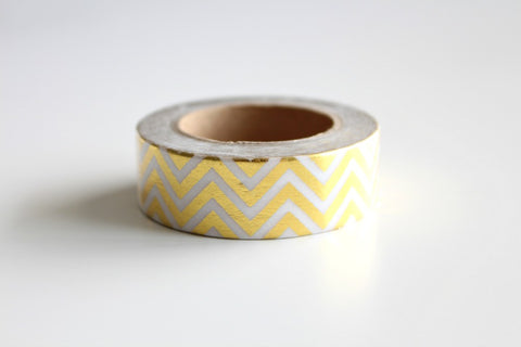 Gold Foil Chevron Washi Tape