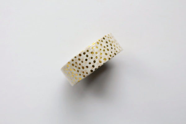 Gold Foil Spotty Washi Tape