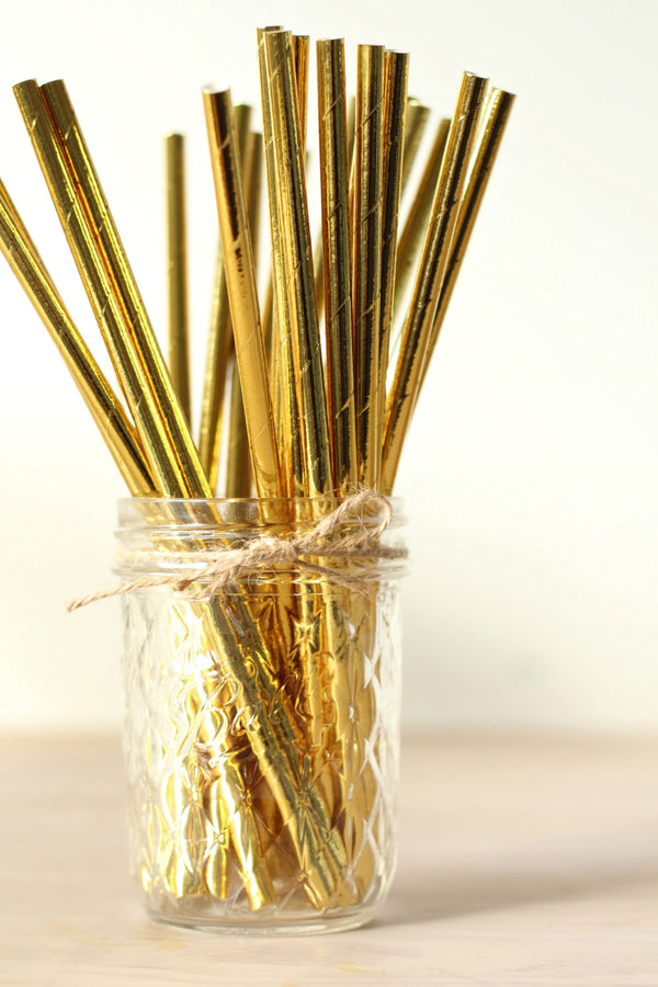 Gold Foil Paper Straws | Pop Roc Parties