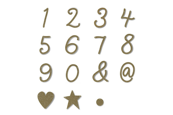 Gold Glitter Number & Symbol Banner Pennants | Pop Roc Parties