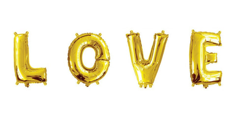 Mini Gold Foil Letter 'V' Balloon