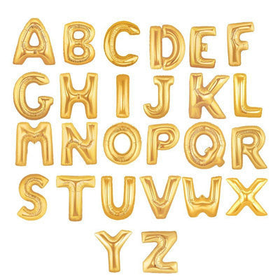 Mini Gold Foil Letter 'W' Balloon