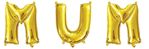 Mini Gold Foil Letter 'M' Balloon