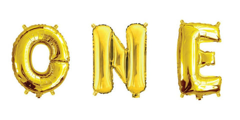 Mini Gold Foil Letter 'O' Balloon