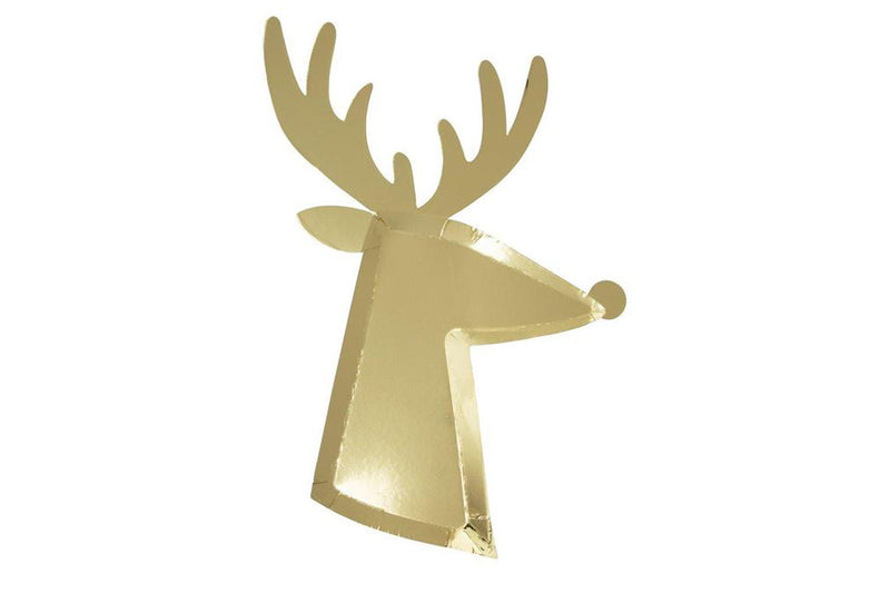 Meri Meri Gold Reindeer Plates | Pop Roc Parties