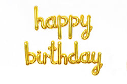 Gold Foil HAPPY BIRTHDAY Script Balloon | Pop Roc Parties