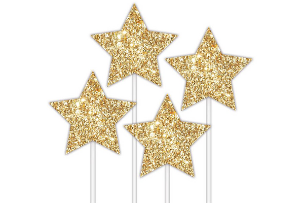 Gold Stars Cake Topper - Pop Roc Parties