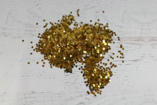 Metallic Gold Star Confetti - Pop Roc Parties