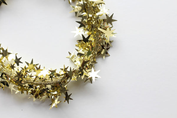 Gold Star Wire Garland | Pop Roc Parties