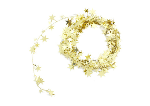 Gold Star Wire Garland