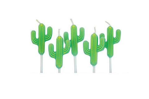 Cactus Birthday Cake Candles