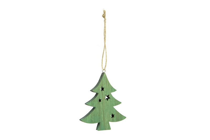Green Wooden Christmas Tree Decoration | Pop Roc Parties