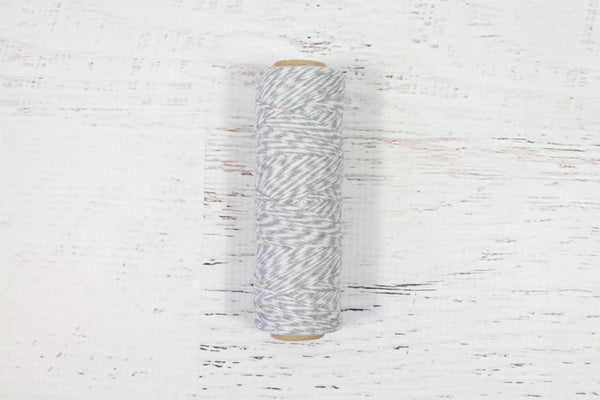 Grey 4 Ply Bakers Twine Roll - Pop Roc Parties