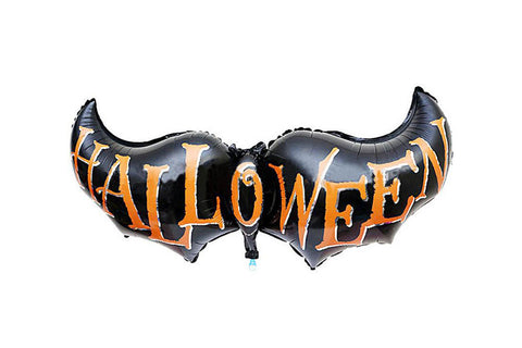 Halloween Black Bat Foil Balloon - Pop Roc Parties