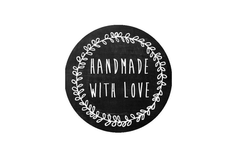 'Handmade With Love' Stickers | Pop Roc Parties