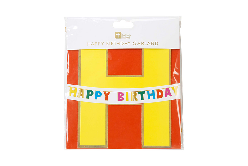 Birthday Brights Rainbow 'Happy Birthday' Garland | Pop Roc Parties