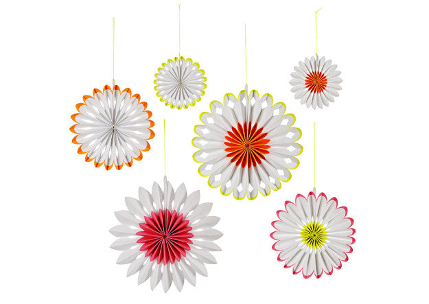 Hip Hop Hooray Flower Pinwheel Decorations - Pop Roc Parties